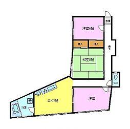 南海高野線 三日市町駅 徒歩7分の賃貸マンション 3階3DKの間取り