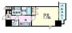 アーバンパーク梅田イースト 4階1Kの間取り