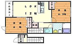 Mステージ天神3[2階]の間取り