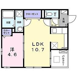 兵庫県尼崎市尾浜町3丁目の賃貸アパートの間取り
