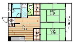 朝日マンション[5階]の間取り