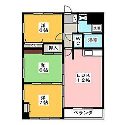 SEAGULL[3階]の間取り