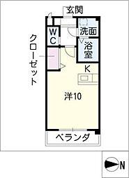 Excel Court 櫻[1階]の間取り