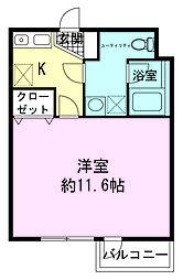 ハセガワマンションセブン[1階]の間取り