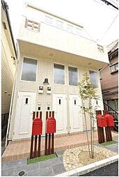 東京都目黒区上目黒4丁目の賃貸アパートの外観