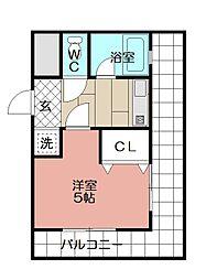 ピュアドーム日赤通り(601)[601号室]の間取り