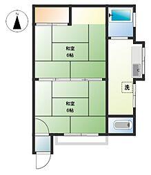 栄興アパート[201号室]の間取り