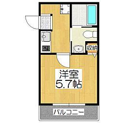 west9五条烏丸[3階]の間取り