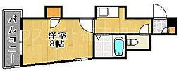 ラフィーヌ薬院[4階]の間取り
