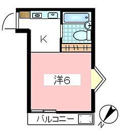 東京都世田谷区砧7丁目の賃貸アパートの間取り
