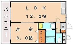 エクセルハイツモリ2[1階]の間取り