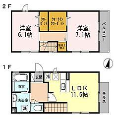 [一戸建] 兵庫県神戸市垂水区霞ケ丘1丁目 の賃貸【/】の間取り