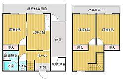 [テラスハウス] 静岡県浜松市中区葵西3丁目 の賃貸【静岡県 / 浜松市中区】の間取り