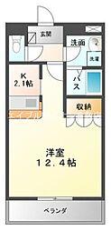 岡山県倉敷市連島中央1丁目の賃貸マンションの間取り