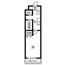 A-city港本宮(エーシティミナトホングウ)[1階]の間取り