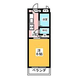 ナビアII[2階]の間取り