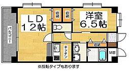福岡県福岡市西区姪の浜1丁目の賃貸マンションの間取り