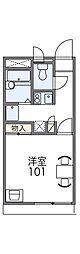 Osaka Metro谷町線 千林大宮駅 徒歩10分の賃貸アパート 1階1Kの間取り