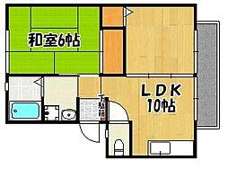 兵庫県明石市人丸町の賃貸アパートの間取り