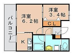 レガーロ空港通[9階]の間取り