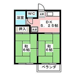 DAYドリームハイツ2 A[2階]の間取り