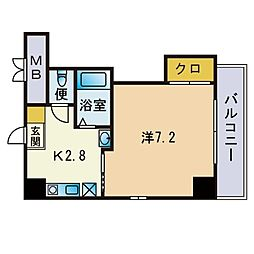 ファビラスマンション 3階1DKの間取り