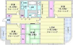 仙台市営南北線 旭ヶ丘駅 徒歩11分の賃貸マンション 2階4LDKの間取り