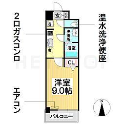 愛知県名古屋市瑞穂区堀田通9丁目の賃貸マンションの間取り