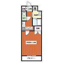 亀山マンションA棟[205号室]の間取り