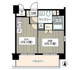 東京都江東区扇橋1丁目の賃貸マンションの間取り