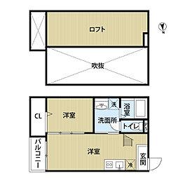 34倶楽部ハウス[105号号室]の間取り