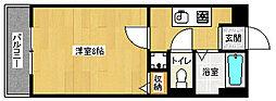 京都府京都市左京区修学院大林町の賃貸マンションの間取り