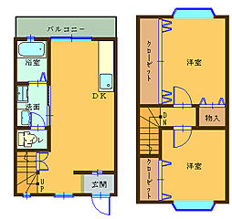マンション センターフィールド[B号室]の間取り