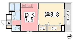 リッチ・キャッスルI[103号室]の間取り