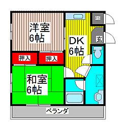 ハイツU[2階]の間取り