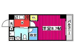 エルスタンザ仙台八幡 6階1Kの間取り