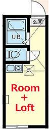 相鉄本線 星川駅 徒歩16分の賃貸アパート 1階ワンルームの間取り