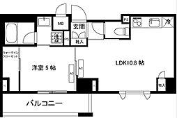 ガーデンテラス柿の木坂[1階]の間取り