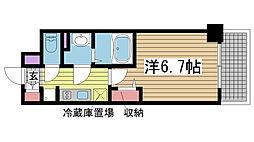 プレサンスTHE神戸[508号室]の間取り