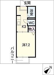 アーバンフラット藤沢B棟[1階]の間取り