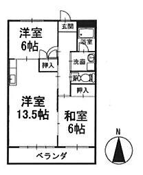 マンション寿 3階[302号室]の間取り