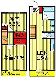 タウンハウス中忠[2-3号室]の間取り