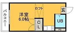 エクセット八田B棟[203号室]の間取り