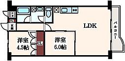 朝日プラザ高津I[3階]の間取り