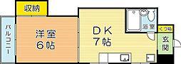 VIP浅野[404号室]の間取り