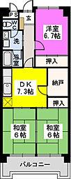 エトワール大野城[6階]の間取り