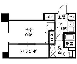プレサンス天満ステーションフロント[2階]の間取り