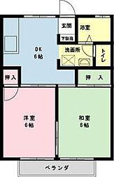 千葉県浦安市富士見4丁目の賃貸アパートの間取り