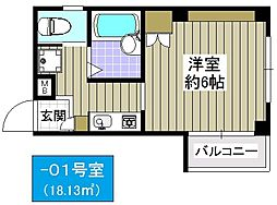 プライムコート泉尾[3階]の間取り