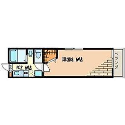 東京都足立区足立1丁目の賃貸アパートの間取り